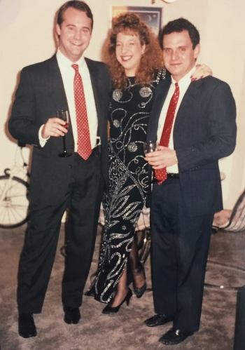 With my friends Doug and John New Years Eve 1989
