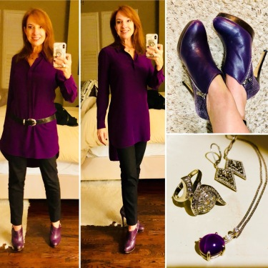 Purple David Peck tunic